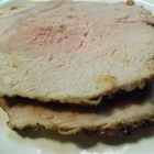 Hawkeye Pork Roast - Roasted pork loin is seasoned with onion powder, garlic powder, and pepper -- simple and delicious.