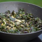 Stir Fried Kale - A great way to use up some of the extra kale you might have in your garden! You can use other similar greens in this recipe - spinach, mustard greens, and arugula will all work.  A mixture of greens is also quite good.  Serve as a salad, as a side dish, or as a main dish with rice.
