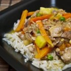 Thai Chicken Curry with Pineapple - Enjoy this Thai chicken curry with rice, noodles, or flat bread. This curry is made with coconut milk and sweetened with pineapple.