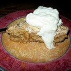 Butternut Brownie Pie -  For this unique recipe, the crust is made from graham crackers folded into sweetened whipped egg whites and spooned into a pie plate and baked. Then it 's crowned with flavored whipped cream and chopped pecans.