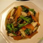 Chicken and Chinese Vegetable Stir-Fry - Chicken is flavored with oyster sauce in this Asian-inspired dish.