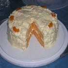 Orange Sunshine Cake - Orange cake with pineapple frosting - perfect for spring!