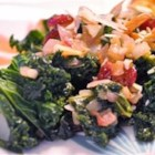 Sweet and Savory Kale - This quick and tasty recipe combines vitamin-packed kale with both sweet and tangy ingredients for a colorful side dish.
