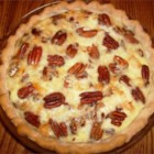 Chicken Pecan Quiche - A little brown mustard mixed into the custard is the flavor secret for this deep dish quiche, perfect for brunch, lunch, or dinner.