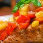 Fish on a Plank - The delicate flavors of the fish are richly enhanced by the sweet tang of the wood planks. The mango salsa gives it a spicy flair.