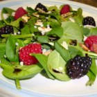 Simple Cranberry Spinach Salad - This is a simple salad that can be made in minutes. It works well at Thanksgiving or anytime you're just looking for something a little different.