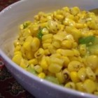 Easy Corn and Green Onion Salad - This side dish of corn and green onion is dressed in white wine vinegar, lime juice, and tarragon.