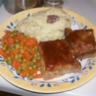 All White Meat Meatloaf - A spicy mix of ground turkey, chicken, and pork sausage makes for a great tasting meatloaf.  Cover the meatloaf with cooked bacon slices before glazing if you like a smokier flavor.