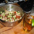 Jose's Shrimp Ceviche - Shrimp are marinated in lime juice, chopped, then tossed with tomatoes, hot peppers, celery and avocado for a zesty appetizer. Serve as a dip with tortilla chips or as a topping on a tostada spread with mayo. The fearless palate might like this with hot sauce.