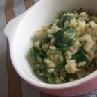 Emerald Green Risotto - This creamy risotto glows with bright green fresh vegetables.