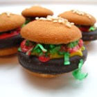 Hamburger Cookies - These cookies look just like little hamburgers.
