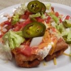 Shredded Beef Chimichangas - Usually deep fried, chimichangas can also be oven-fried with less mess, fuss, and fat. Use the filling in burritos as well. You may also deep fry, if desired.