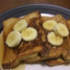 Peanut Butter French Toast - If you love French toast and you love peanut butter, why not combine them into one easy, delish recipe? Top with sliced strawberries or bananas.