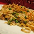 Turkey Tetrazzini II - This easy pasta dish is a great way to use the turkey leftovers - and a Parmesan lover's dream!