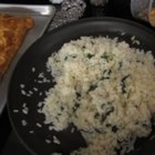 Very Easy Risotto - This green onion and Parmesan cheese rice dish is easy, fast and doesn't require constant stirring!