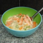 Creamed Carrot Strips - Carrots are simmered in a creamy broth with a saute of celery, mushrooms and onion.