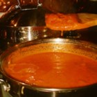 Vodka Sauce - This is a great recipe for those who love spicy food. If not, simply omit the crushed red pepper. This recipe will have your family eating the leftovers out of the refrigerator. A piece of advice: use the best vodka you can - it really makes a big difference! Serve with pasta, and garnish with grated Parmesan cheese.