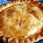 Rhubarb Pie IV - This is the easiest rhubarb pie recipe that I ever tried. Hardly any work at all. Enjoy!!!!!!!!!