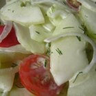Easy Lemony-Dilly Cucumber Salad - This delicious cucumber salad is ready in under 30 minutes.