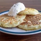 Boxty - Irish potato griddle cakes, made from both baked potato and raw, grated potato, are pan fried until crisp and golden. Serve them with butter or honey.