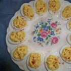 Easy Creamy Deviled Eggs - Mom's original recipe with a little kick of wasabi mayonnaise to give this classic a more modern edge.