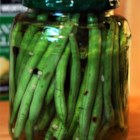 Crisp Pickled Green Beans - This recipe is from my Grandmother's cookbook she made to pass to all her grandchildren. They come out very, very crisp with a wonderful dill flavor. The red pepper flakes give them a nice punch. They are much better than the recipes that call for cooking the beans first.