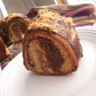 Chocolate Peanut Butter Marble Cake - Delicious!