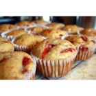 Strawberry Lemon Muffins - Lemon and strawberry come together in these easy and tart muffins.