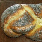 Hungarian Braided White Bread - This is a rich and lovely braided bread with a scattering of poppy seeds on top.