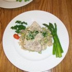Tuna with Rice Pilaf - A simply delicious meal! Sure to make your kitchen smell amazing! This recipe is very versatile, as well.  For example, you may find it easier to use lima beans instead of edamame. Also you could use a different type of fish if you don't like tuna. You could even use fresh herbs for a burst of flavor! Feel free to experiment. Enjoy!