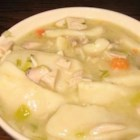 Chicken and Dumplings I - Your basic boiled chicken with dumplings in broth--so simple, so satisfying.