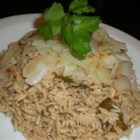 Jeera Fried Rice - Indian fried rice made with long-grain rice, cumin, black peppercorns, and onions.