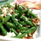 Green Bean Blue Cheese Salad - This salad has crunchy green beans and creamy blue cheese and is full of flavor.