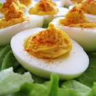 Deviled Eggs II - This simple deviled egg recipe is the result of years of trial and error. CAUTION: Very slippery. If carrying over carpet they will always land yolk-side down.