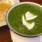 Cream of Spinach Soup - Sauteed chopped spinach is added to a roux-thickened mixture of milk and chicken bouillon for a fast and easy-to-prepare soup.  This technique works well with a variety of vegetables.