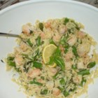 Orzo and Shrimp Salad with Asparagus - This is a dish that goes together quickly, can be doubled easily, and looks beautiful! Orzo , shrimp and fresh asparagus tossed with a light olive oil, lemon and basil dressing. Perfect for a warm weather picnic. Can be served chilled, at room temperature, or heated!