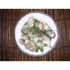 Radish Salad With Parsley & Chopped Eggs - Crisp radishes are the star in this savory spring salad.