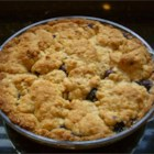 Blueberry 'S' Pie - A quick oat streusel sandwiches a filling of sweet blueberries in this easy dessert.