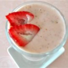 Strawberry Banana Smoothie - In addition to strawberries and bananas, this smoothie also has vanilla yogurt, wheat germ, and honey.