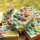 Jellybean Bark - A simple and delicious Easter confection that combines creamy white chocolate and fruity jellybeans.