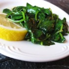 Buttery Lemon Spinach - Lemon and garlic provide a flavor accent for steamed spinach in this quick and simple recipe.