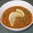 Lentil Soup with Lemon - This soup includes chicken broth, carrot, onion, some spices, and a splash of lemon.  Flexible and very delicious!!