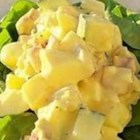 Amish Potato Salad - This is like the potato salad I grew up with in Pennsylvania Dutch country.  This has a sweet and sour dressing and is distinctively yellow.