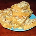 Dutch Almond Boterkoek - This is a Dutch almond buttercake bar cookie that keeps well.