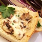 Mike's Mushroom Bread - Serve this cheesy mushroom bread as an appetizer or with soup or salad for lunch.