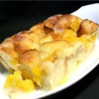 Mango Bread Pudding - A unique bread pudding made with mangos and a dash of cardamom.