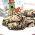 Shulie Krinkles - Make chocolate crinkle cookies the easy way by using fudge brownie mix. Mix the dough, refrigerate, roll in powdered sugar, and you're good to go.