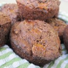 Irresistible Double Chocolate Muffins - These yummy muffins are packed with whole wheat flour, flax, wheat germ, and lots of chocolate!