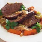 Beef Pot Roast - This is the best and easiest recipe for pot roast I have ever tried. It is best to make it a day ahead. Serve with oven roasted vegetables, potatoes, carrots, onions, or your favorite side dish.