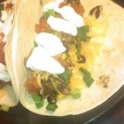 Pork Steak Burritos - Yum, pork steaks, salsa, and sour cream - what more can you ask for?
